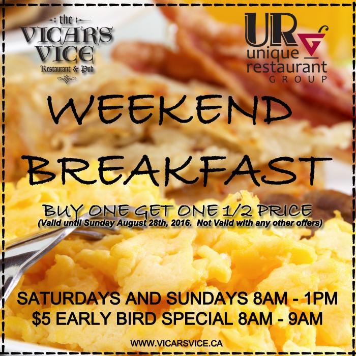Coupon - Breakfast - Vicars
