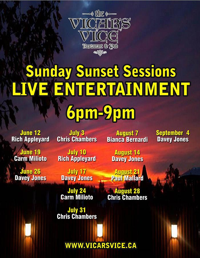 Sunday Sunset Music - Vicars